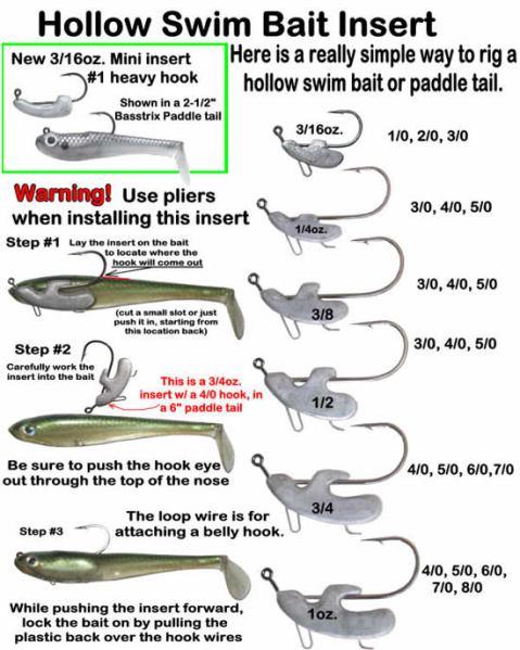 hollow swim bait insert